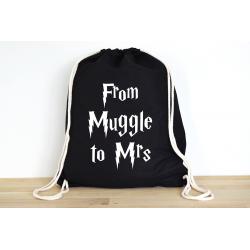 Harry Potter From Muggle to Mrs - Rucksack ODER Jutebeutel