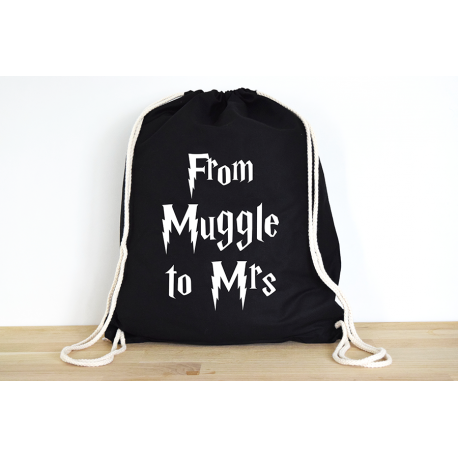 Harry Potter From Muggle to Mrs - Rucksack ODER Jutebeutel