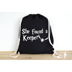 Harry Potter She found a Keeper - Rucksack ODER Jutebeutel