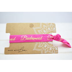 Bridesmaid Hair Tie Pink