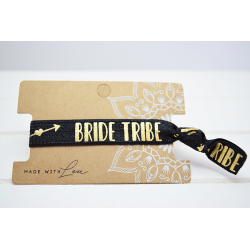 Bride Tribe  Hair Tie Schwarz