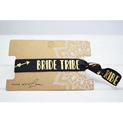 Bride Tribe  Hair Tie Schwarz