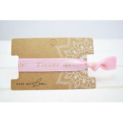Flower Girl Hair Tie Rosa