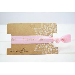 Flower Girl Hair Tie Rosa
