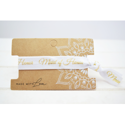 Maid of Honor Hair Tie Weiss