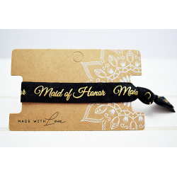 Maid of Honor Hair Tie Schwarz