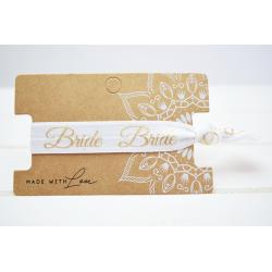 Bride Hair Tie Weiss