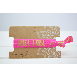 Bride Tribe  Hair Tie Pink