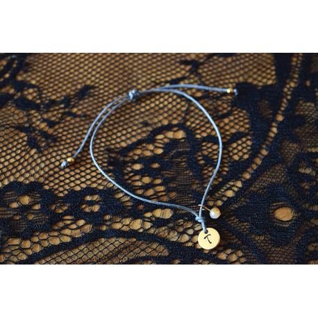 Initial Armband in rosegold in deine Wunschfarbe!