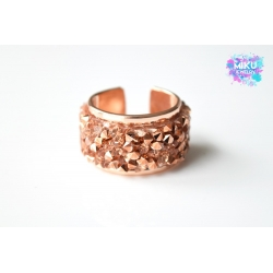 Strass Ring Rosegold
