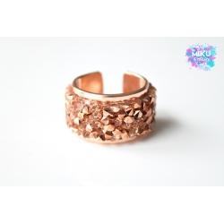 Strass Ring Rosegold