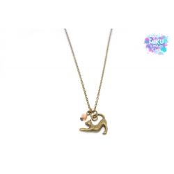 Katze Halskette Bronze