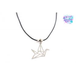 Halskette Origami Kranich Silber