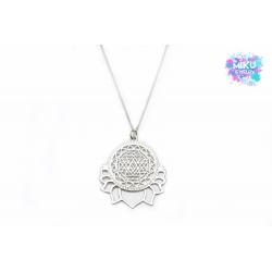 Silberne Sri Yantra Meditationshalkette