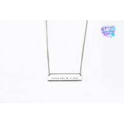 """Silber Halskette Morse Zeichen """"HOPE"""""""