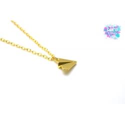 Halskette Papierflieger Gold