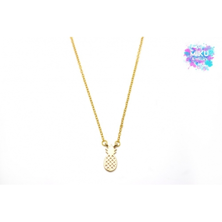 Halskette Ananas Gold