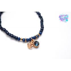 Perlenarmband - Anker und Swarovski Strass