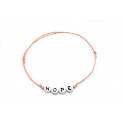 Armband Wunschname/Wort versilberte Perlen