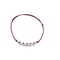 Armband Wunschname/Wort rosegoldene Perlen