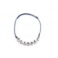 Armband Wunschname/Wort bronzene Perlen