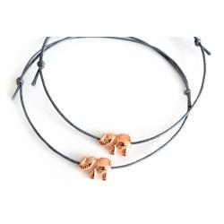 Freundschaftsarmbänder rosegoldener Elefant