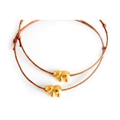 Freundschaftsarmbänder goldener Elefant