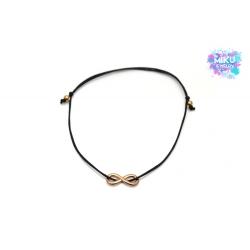 Rosegoldenes Infinity Armband  mit Perlen