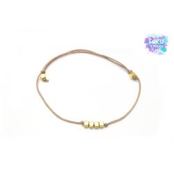 Armband goldene Würfelperlen