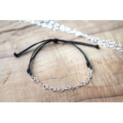 Armband mit Herzkettchen aus Sterling Silber in deiner Wunschfarbe