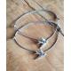Freundschaftsarmbänder silberne Schwalben mit Perlen in deiner Wunschfarbe!
