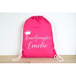 Brautjungfer + Dein Name - Rucksack ODER Jutebeutel
